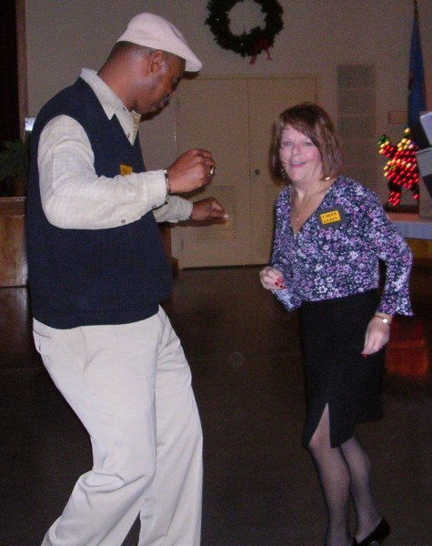 Ray shows his moves on the dance floor at the 2006 reunion